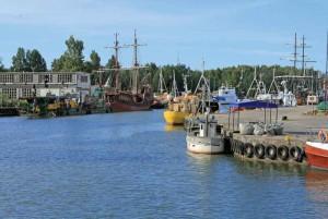 Yacht marina bay at Leba, Poland