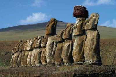 Ahu Tongariki – najlepiej zachowane posągi na wyspie