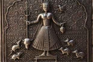 Bogini Karni Mata wśród podopiecznych
