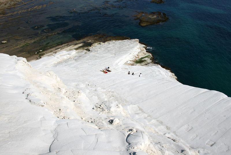 Scala dei Turchi - białe skały na południowym wybrzeżu, fot. Paweł Wroński