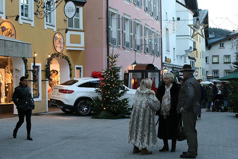 Mercedes pod choinkę - w Kitzbühel, fot. Paweł Wroński