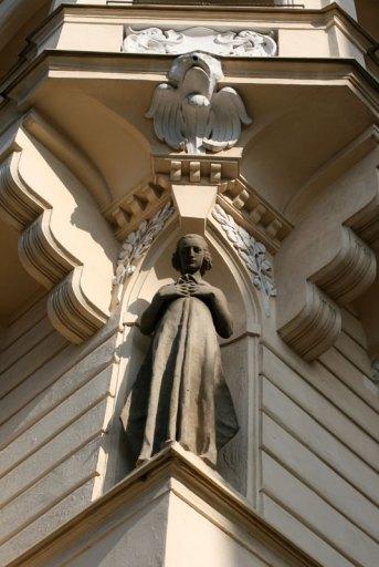 Detal architektoniczny kamienicy na Vinohradach, fot. Paweł Wroński