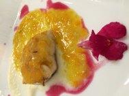 La Triglia nel Giardino dell'Etna, czyli porcja cefala morskiego w sosie romantycznie nazwanym Ogrodem Etny, fot. Paweł Wroński