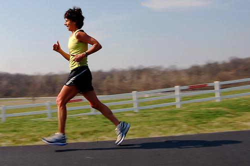 Wie man beim Laufen Fett verbrennt.