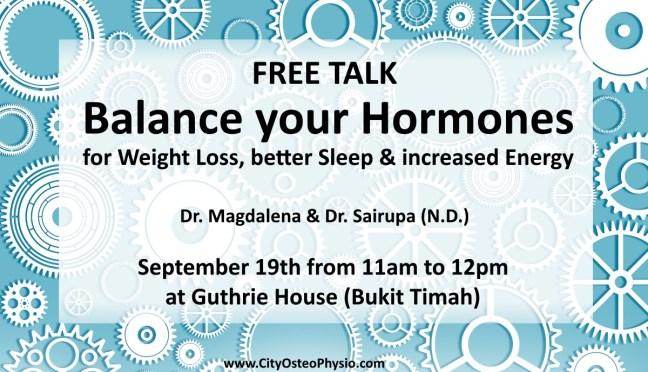FREE TALK: Balance your Hormones