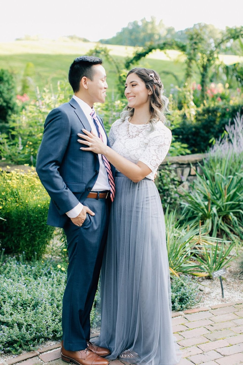 longwood gardens romantic summer engagement photography magdalena studios 0001