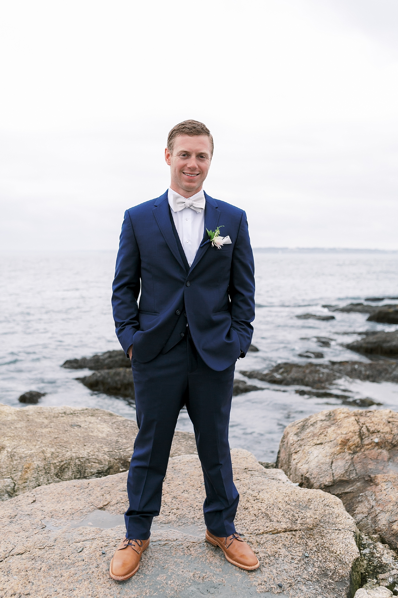 Coastal and Authentic Film Wedding Photography in Newport Rhode Island by Magdalena Studios 0021