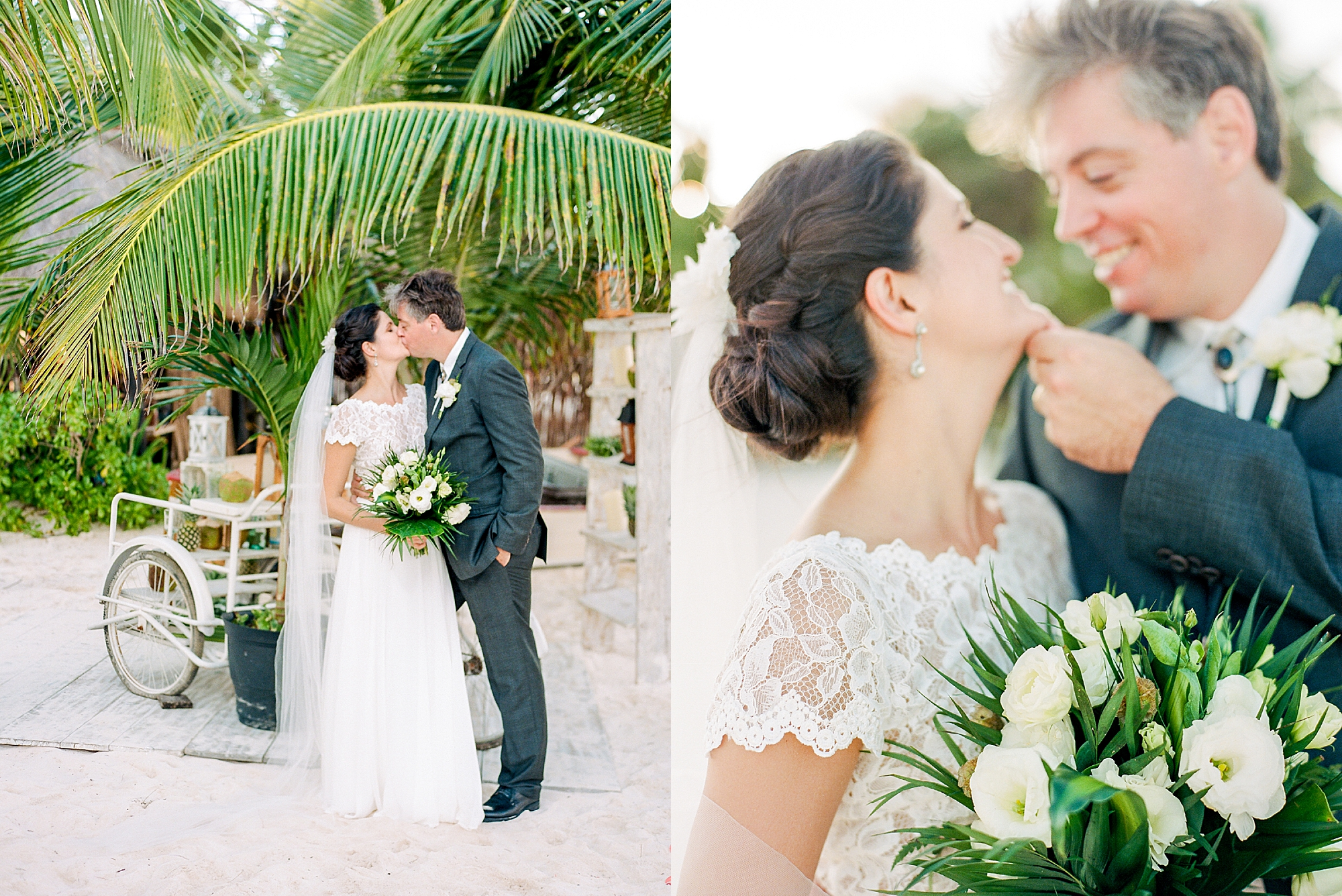 Stylish and Candid Destination Film Wedding Photography in Tulum Mexico by Magdalena Studios 0026