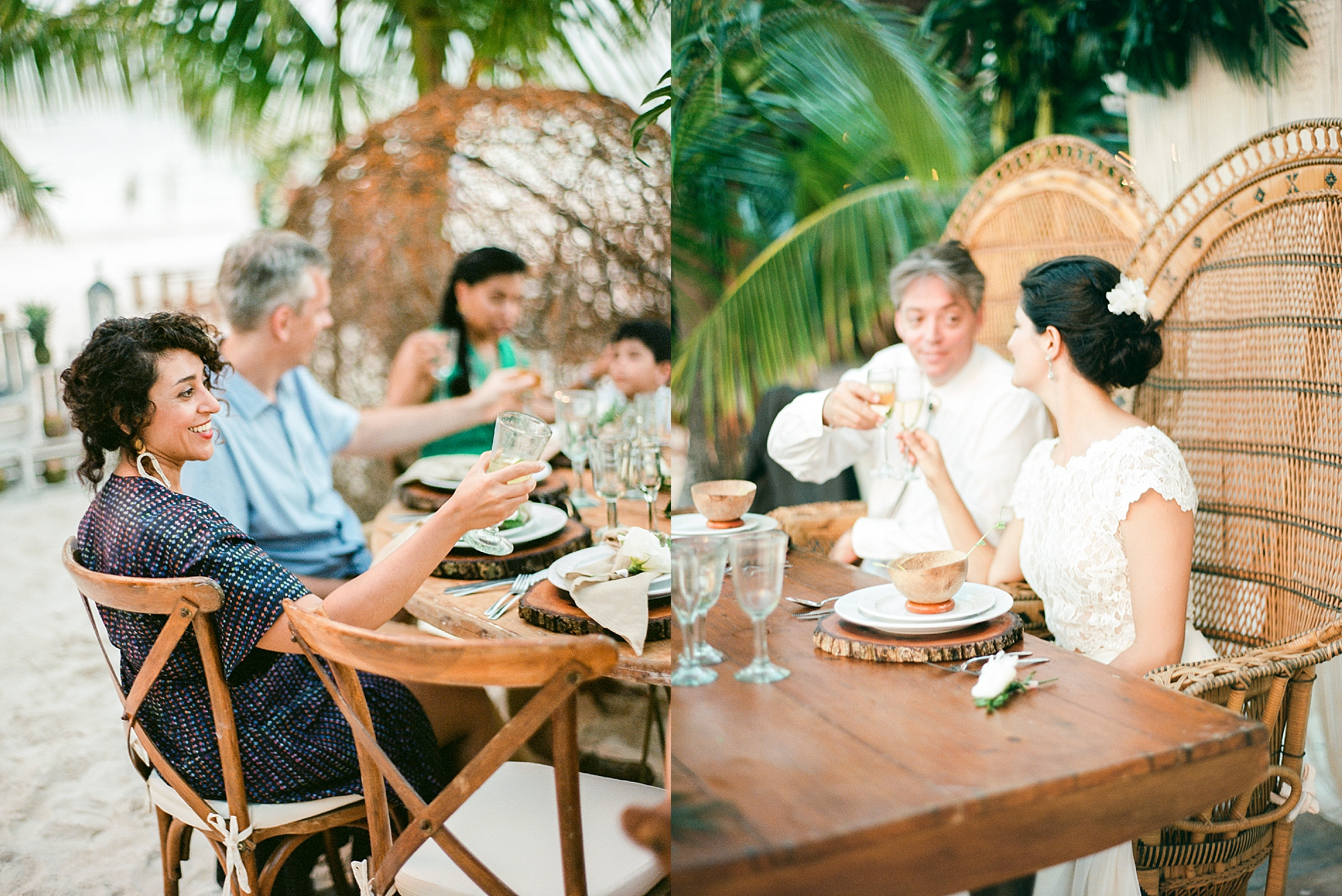 Stylish and Candid Destination Film Wedding Photography in Tulum Mexico by Magdalena Studios 0054.