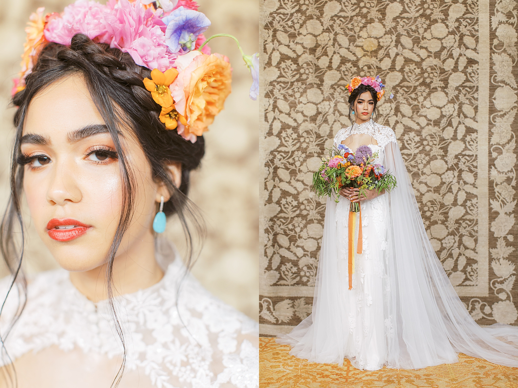 Vibrant and Colorful Frida Kahlo Inspired Wedding Photography by Magdalena Studios 0011