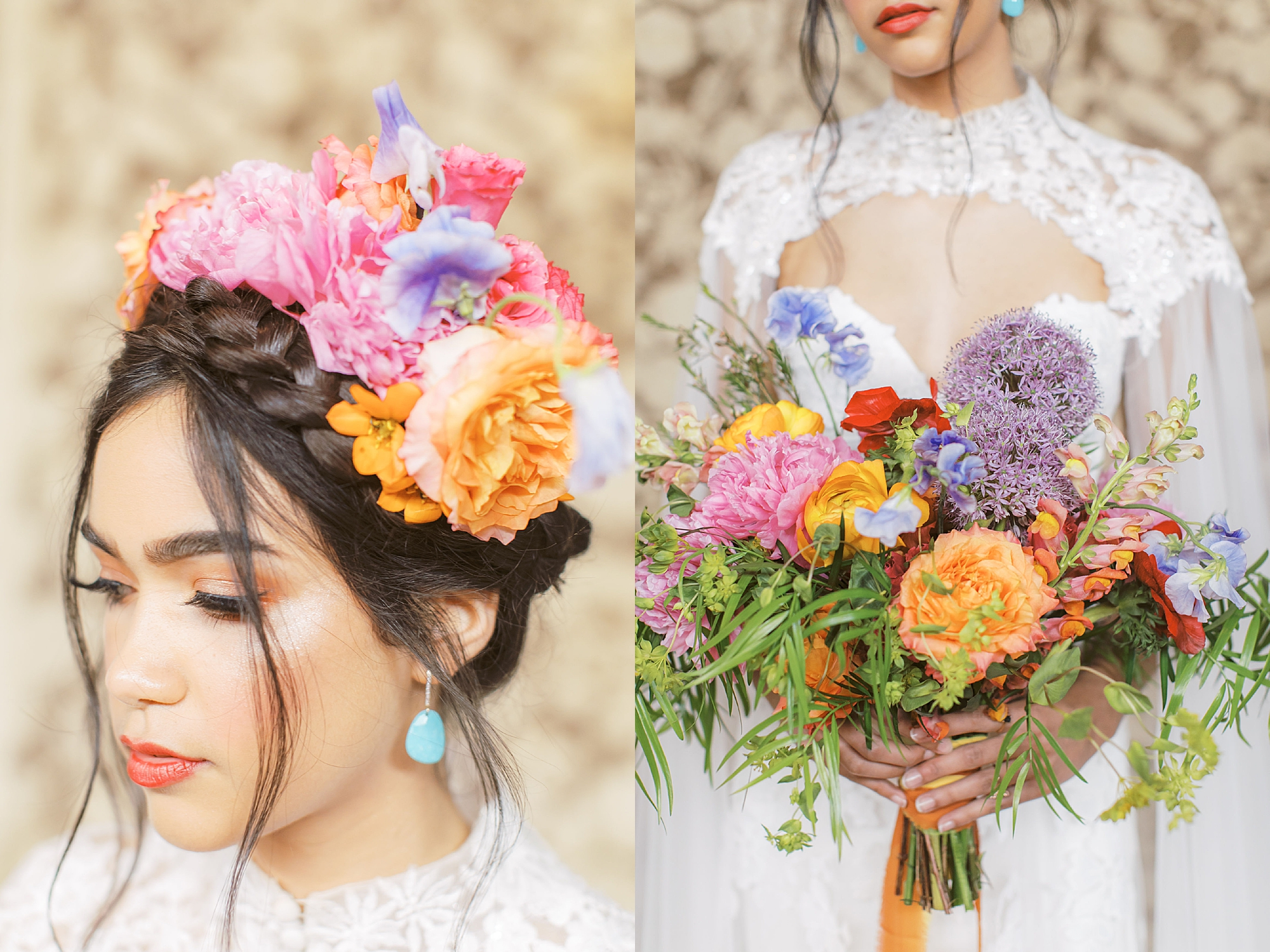 Vibrant and Colorful Frida Kahlo Inspired Wedding Photography by Magdalena Studios 0014