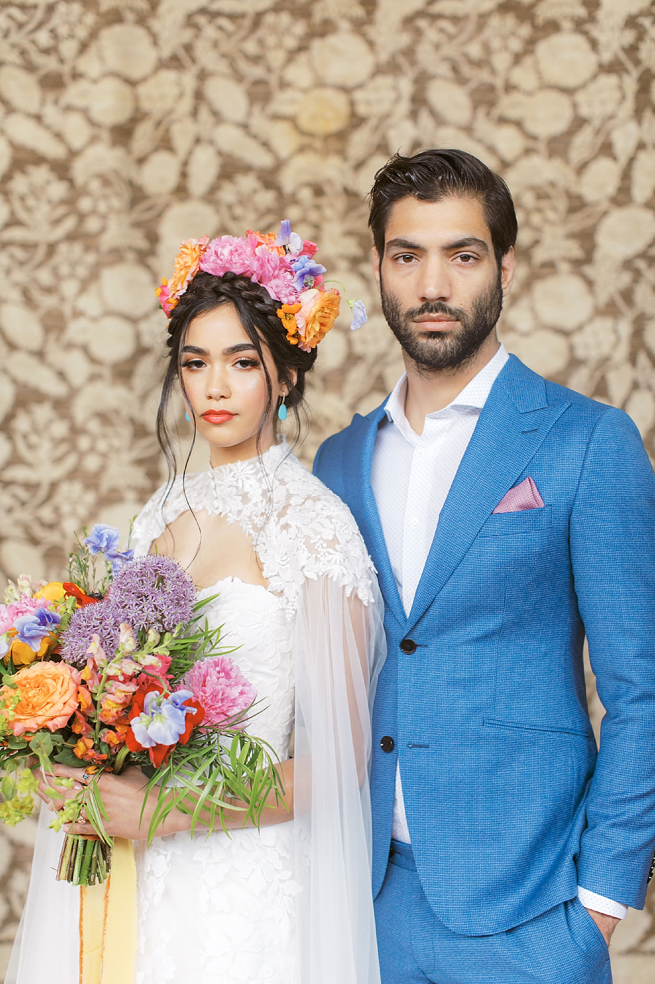 Vibrant and Colorful Frida Kahlo Inspired Wedding Photography by Magdalena Studios 0017
