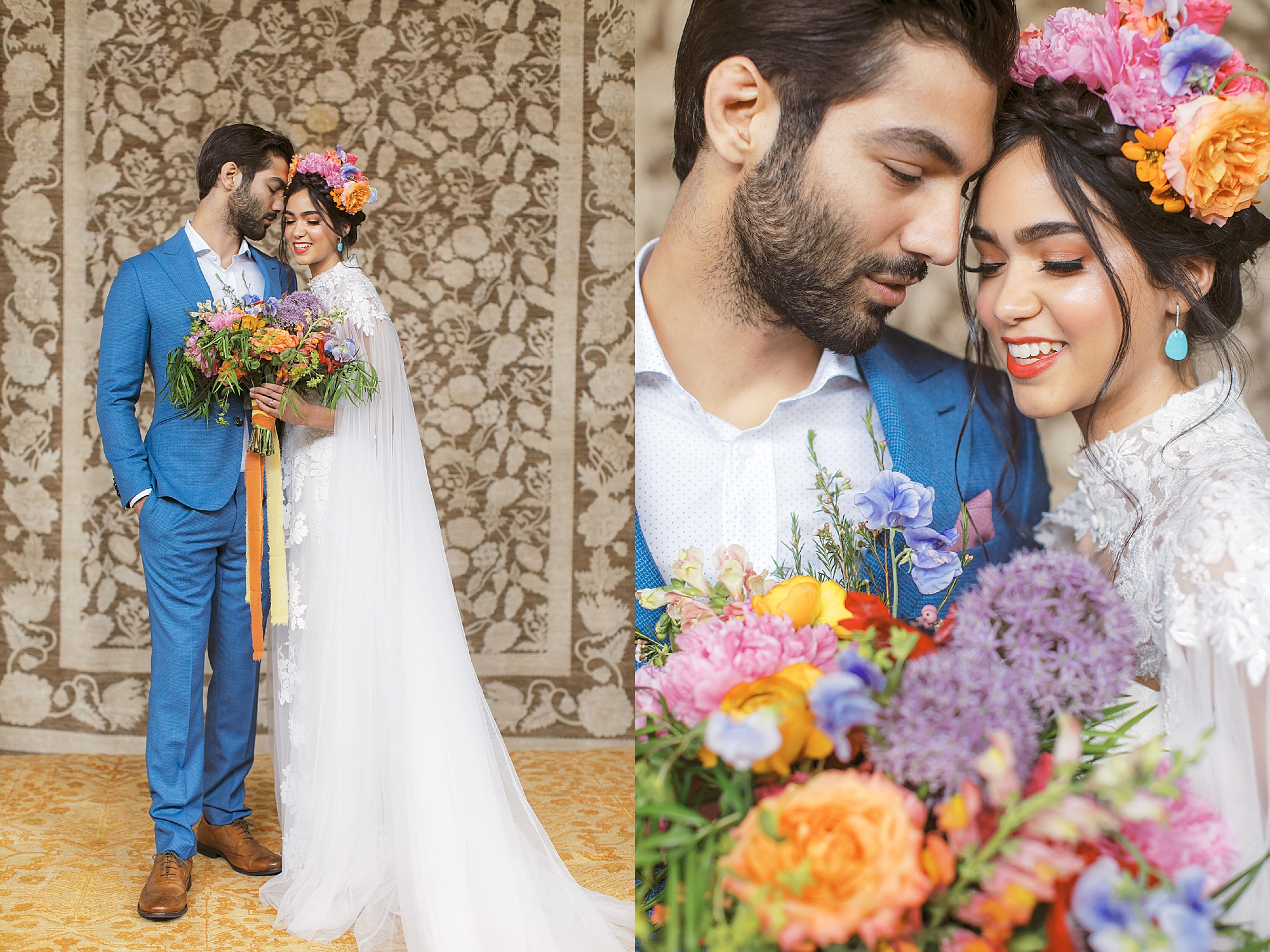 Vibrant and Colorful Frida Kahlo Inspired Wedding Photography by Magdalena Studios 0018