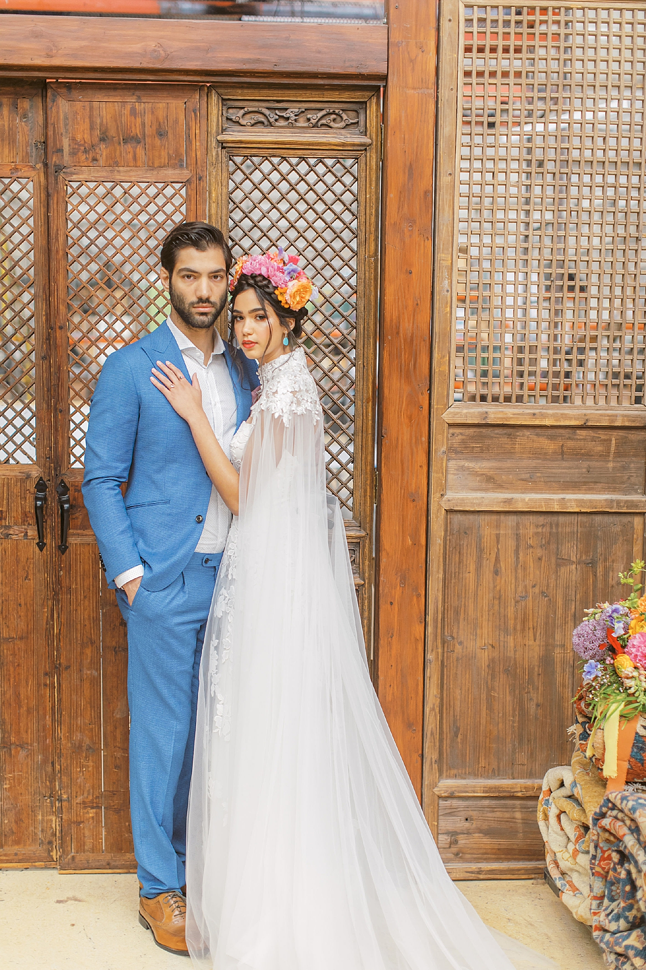 Vibrant and Colorful Frida Kahlo Inspired Wedding Photography by Magdalena Studios 0022