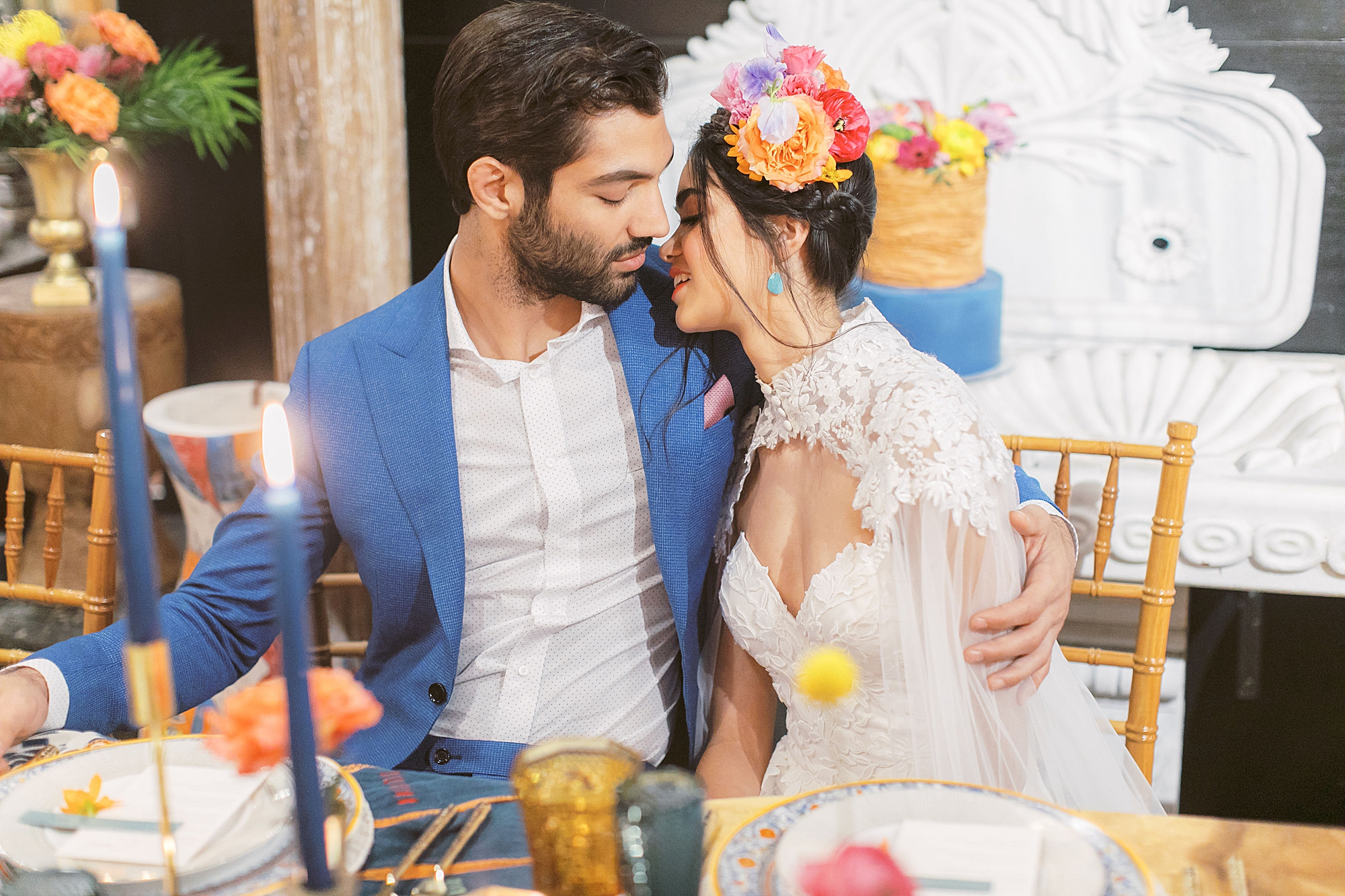 Vibrant and Colorful Frida Kahlo Inspired Wedding Photography by Magdalena Studios 0027