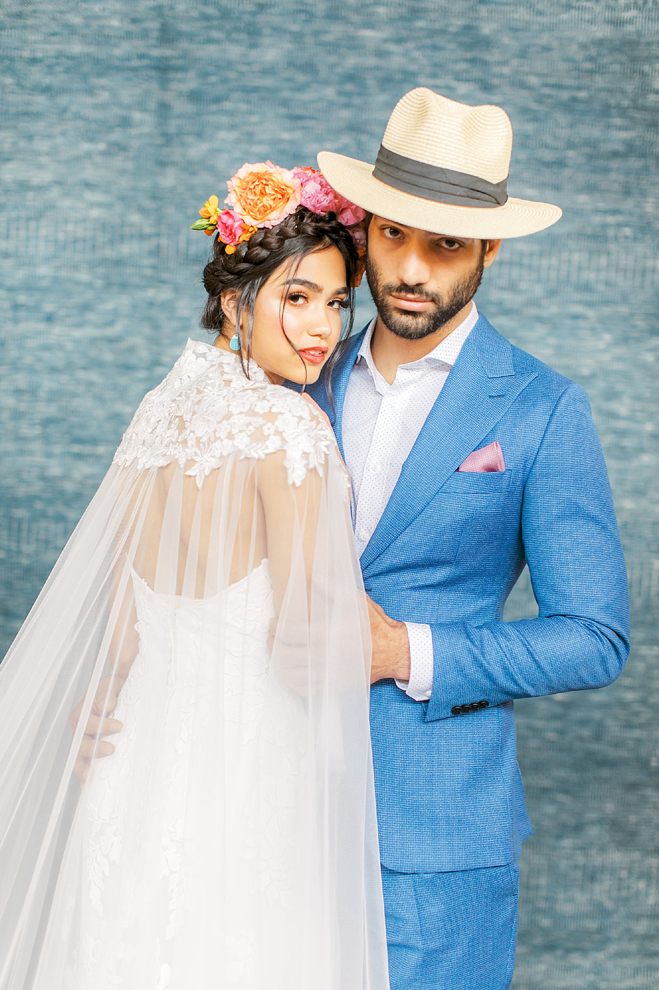 Vibrant and Colorful Frida Kahlo Inspired Wedding Photography by Magdalena Studios 0045
