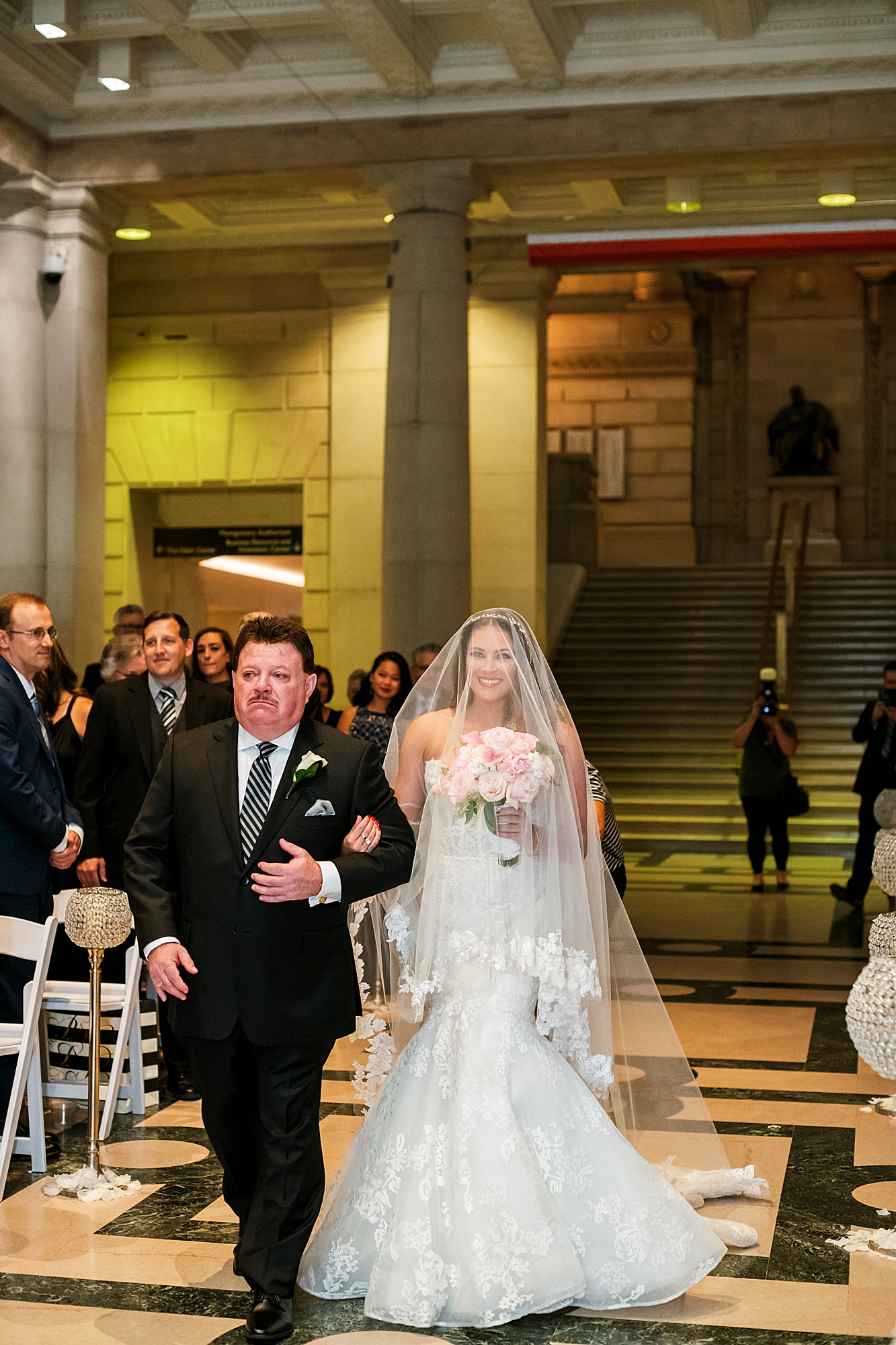Free Library of Philadelphia Wedding Photography by Magdalena Studios 0015