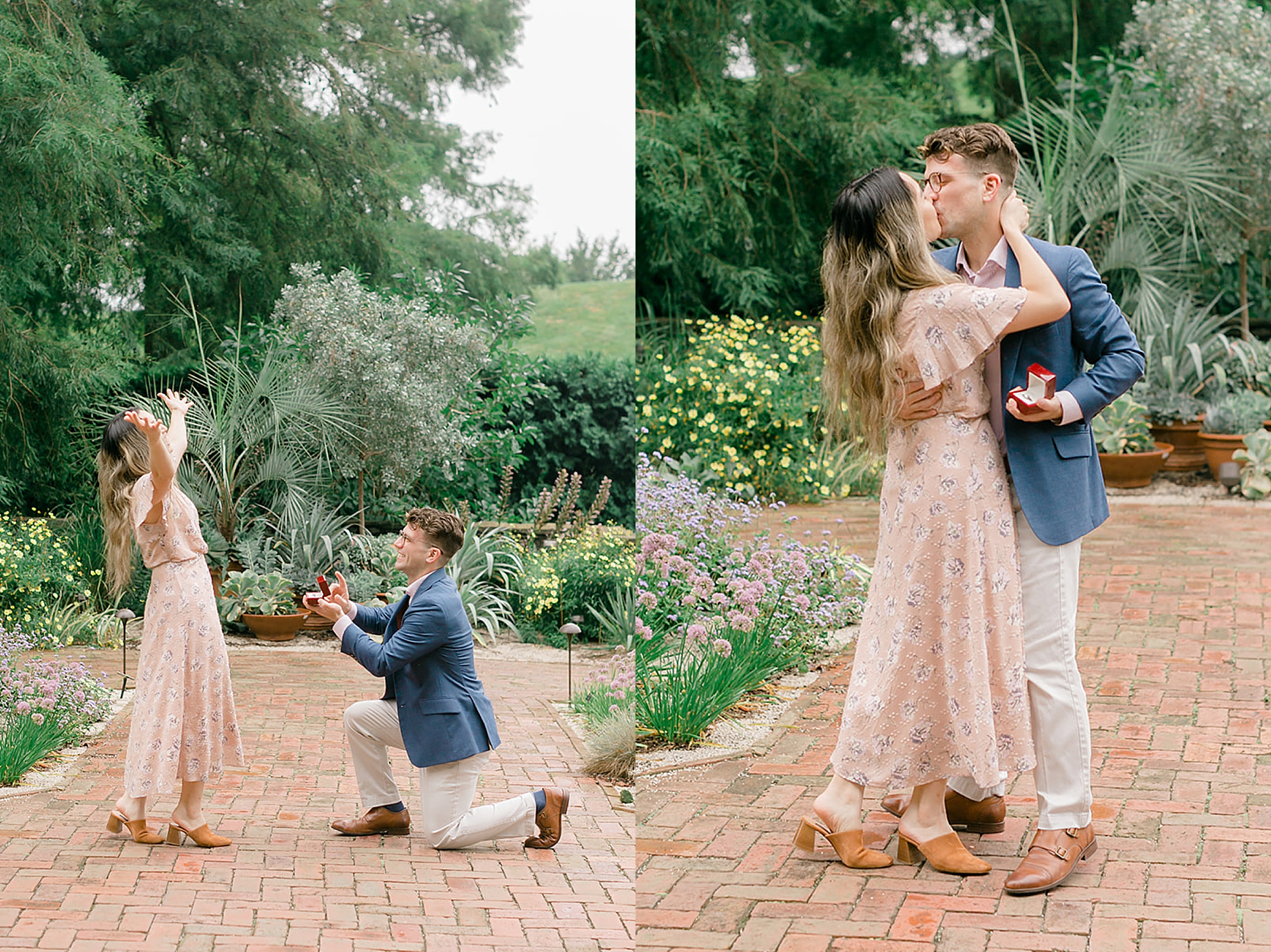 Longwood Gardens Surprise Proposal Engagement Photography by Magdalena Studios 0003