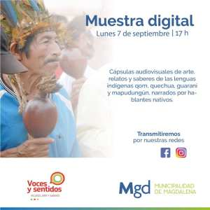 Muestra digital sobre lenguas indígenas