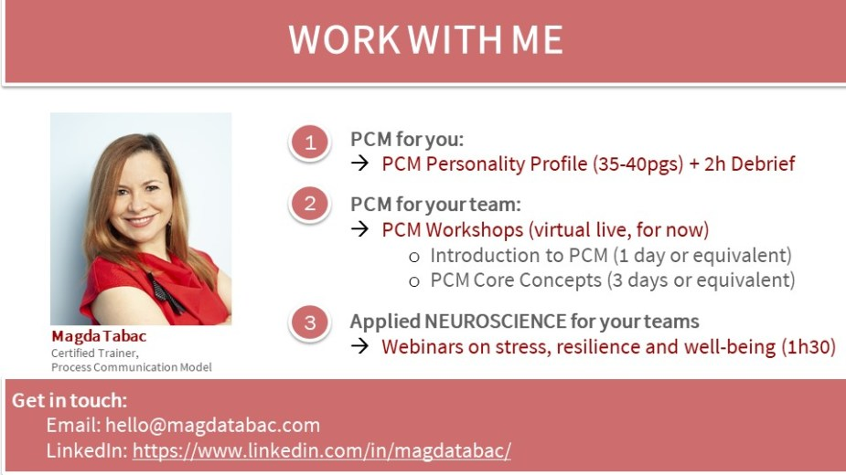Work with me 2021 - Environmental Preferences:  why are some people better at working from home than others? The PCM Perspective.