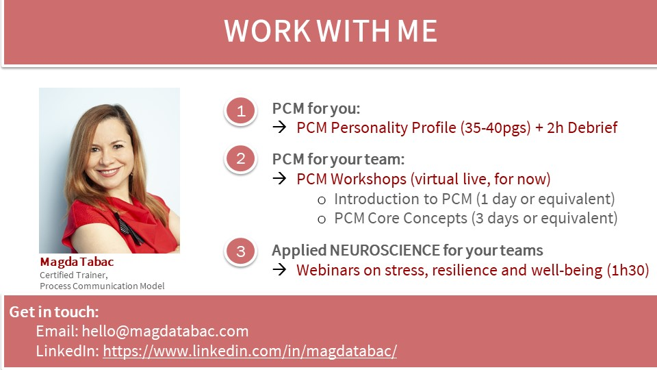 Work with me 2021 - Why PCM?