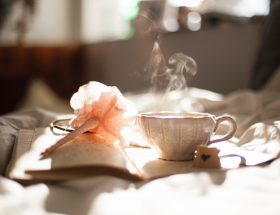 Ceramic Teacup and Journal