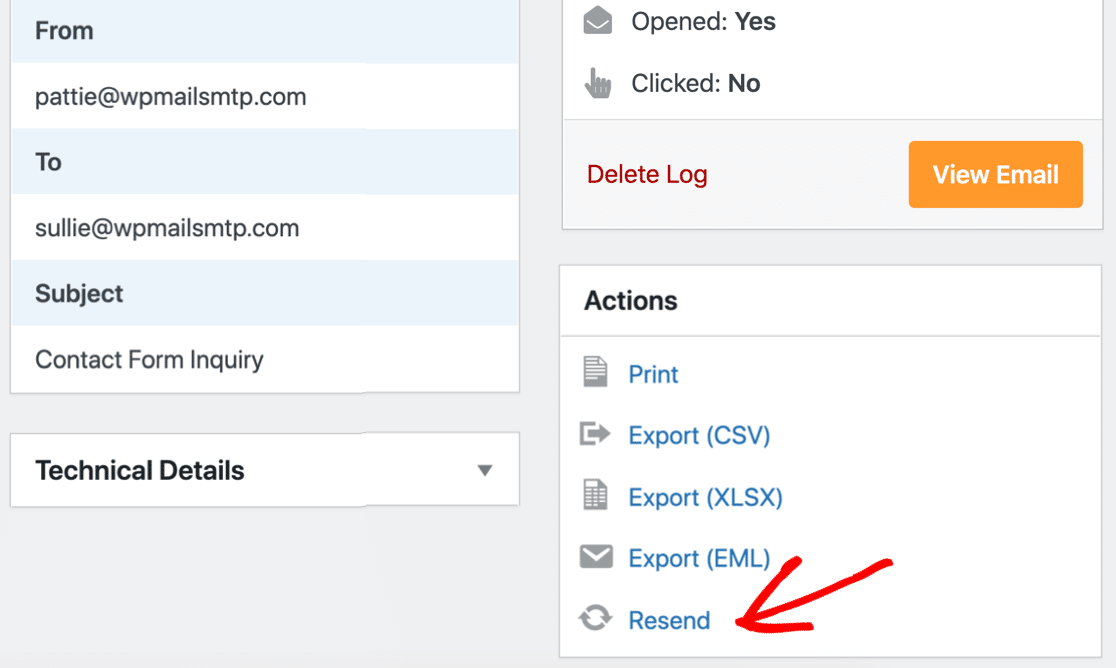 resend WordPress emails