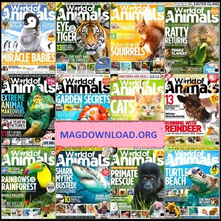 World of Animals - 2018 Full Year Issues Collection