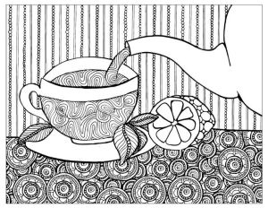 Tea & Coloring @ Library
