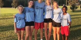 SCA Cross Country winners in Early Bird run