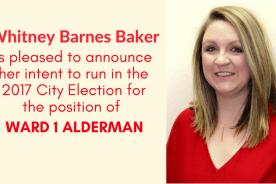 Whitney Barnes Baker Announces for Alderman Ward 1