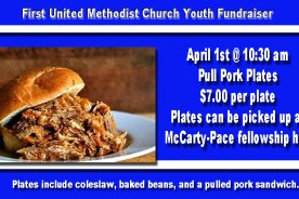 FUMC Selling Pull Pork Sandwiches