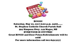 Bingo @ St. Stephens Catholic Church