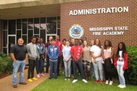 Tech Center Students Visit Ms State Fire Academy