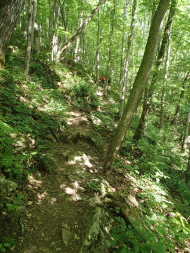 The trail is QUITE steep in places