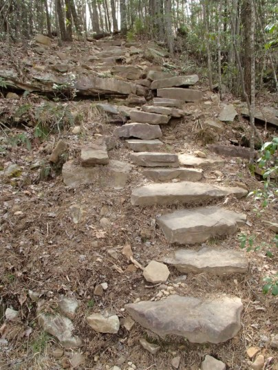 Some of the 900 steps in the gulf. Don't complain about the steps, someone ELSE had to drag those suckers in place!