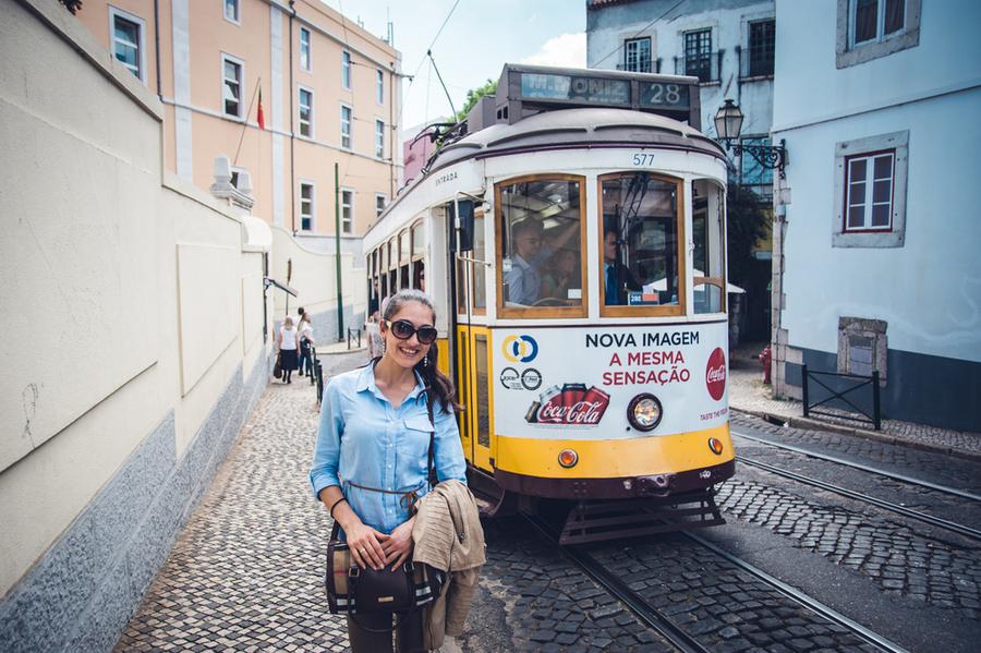 Трамвай 28 в Лисабон, Португалия
