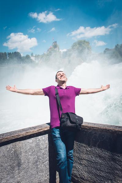 Водопадът на Рейн. Шафхаузен, Швейцария
