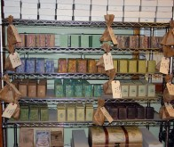 Magellan's Gift Soap curing on the racks!