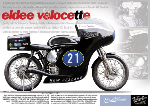 Eldee 2, Velocette, a lightweight of distinction, launch poster, infographic, A3,