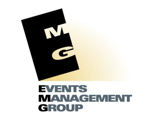 EMG: Events Management Group logo. EMG was an Events Management startup firm, established by local industry experts in event and project management, they combined skills from group travel logistics through to creative function design, corporate and community event management. Brands for New Zealand businesses, Christchurch.