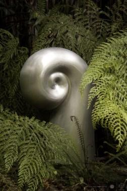 Mt Erebus Koru capsule. Kinetic sculpture by Phil Price.