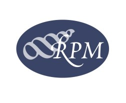 RPM: Rental Property Management logo. Rebrand and repositioning of an established Christchurch Property Management firm. The company name is within and among a calligraphic symbol for a hermit crab's home, a turban shell. Brands for New Zealand businesses, Christchurch.