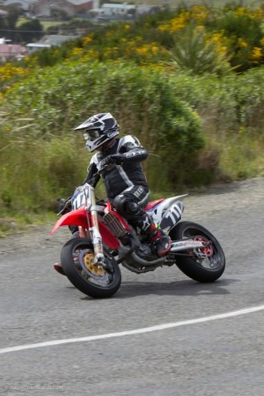 Bluff Hill, Bluff HIll Climb, Burt Munro Challenge, Donald McConochie, Honda CRF 450, Motupohue, New Zealand, NZ Hill Climb Champs, Rider 717, Up to 600cc, 10 year Anniversary event, Thursday 26 November 2016