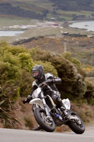 Bluff Hill, Bluff HIll Climb, Burt Munro Challenge, Husaburg FS 570, Michael Blomfield, Motupohue, New Zealand, NZ Hill Climb Champs, Rider 570, Up to 600cc, 10 year Anniversary event, Thursday 26 November 2016