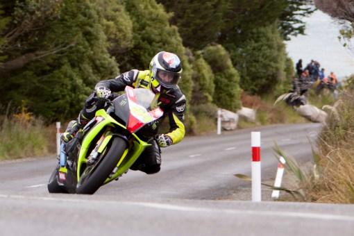 Aprilia RSV4 1000, Bluff HIll Climb, Burt Munro Challenge, Corner 1, Flagstaff Road, Motupohue, Johnny Lewis, New Zealand, NZ Hill Climb Champs, Open Class, Rider 54