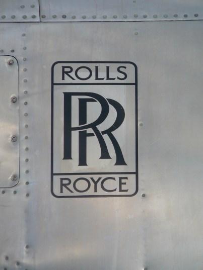 Rolls Royce logo on the polished alloy nacelle of Pionair Australia Convair VH-PDV.