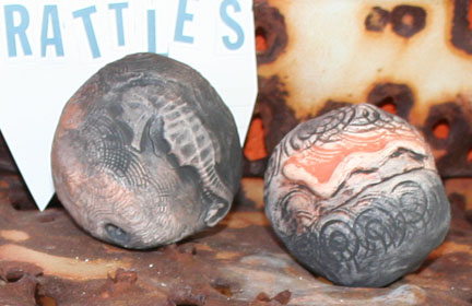 Seahorse and Snake rattles available