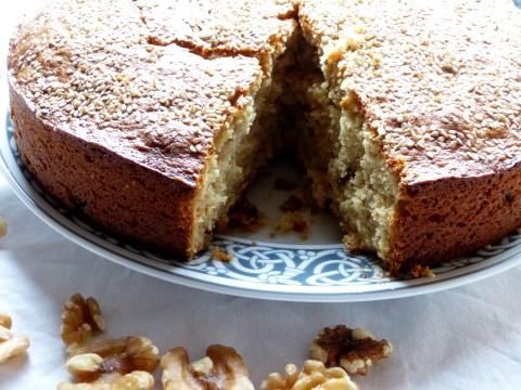 sesam-walnuß-kuchen