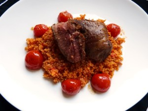 lamm, tomatencouscous